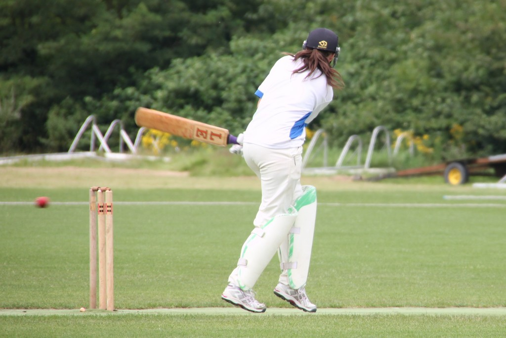 M. Lubbers (Netherlands) batting against Belgium