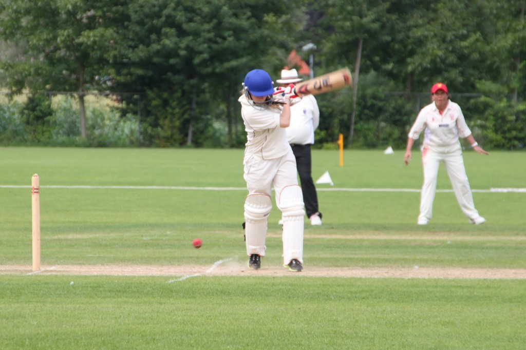 Franziska Ziegler (Germany) batting against Jersey